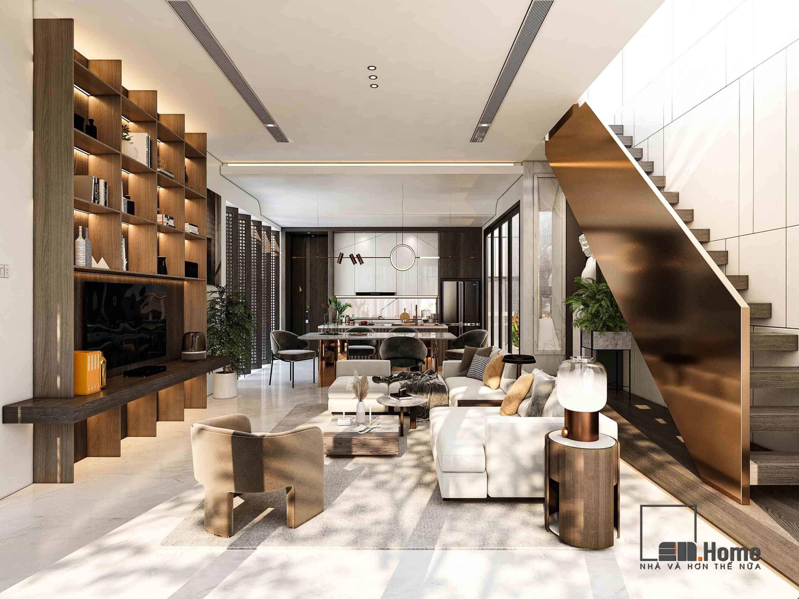 Thiết kế nội thất biệt thự anh Tuấn